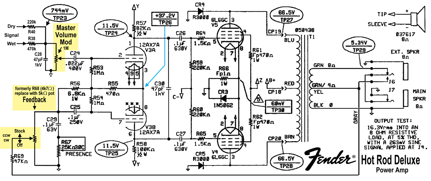 fender hot rod deluxe mods part 2 rh tangible technology com 3-Way Switch Wiring Diagram Fender 1960 Fender Stratocaster Wiring-Diagram